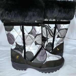 "Coach ""Sasha"" black & white winter boots size 9.5"